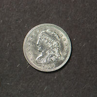 1837 CAPPED BUST SILVER 1/2D HALF DIME - HIGH GRADE COIN Lot#B412