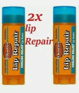 OKeeffes Cooling Lip Repair Balm 4.2g Relief For Cracked Split & Dry Lips x 2