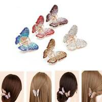 Butterfly Claw Women Girl Crystal Rhinestone Hair Clip Clamp Jaw Hairpin Hot
