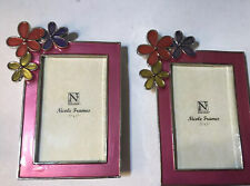 Lot Of 2 Nicole Pink Flowers Mini Frame Place Card Wedding Party Girl Favors