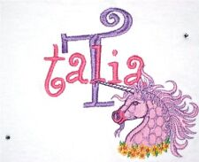 Personalized Pretty Unicorn Horse & Name or Birthday T Shirt with Rhinestones!