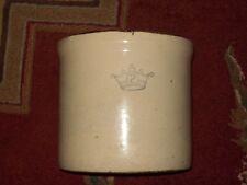 """Antique"" Robinson Ransbottom Blue Crown #2 Crock U.S.A. Roseville Ohio Pottery"