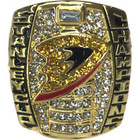 2007 Anaheim Ducks Selanne  NHL Stanley Cup 18k Gold Plated Championship Ring