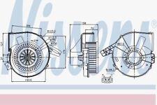 NISSENS 87028 Gebläse Motor Audi A2 00