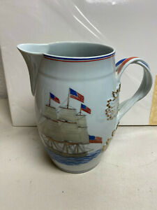 Mottahedeh pitcher jug our maritime heritage U.S. Frigate Constitution 9""