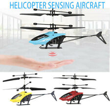 Mini RC Infraed Induction Helicopter Aircraft Flashing Light Toys Christmas Gift