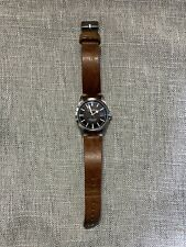 Geckota E-01 Sports Watch Swiss Made ETA 2824-2 Black Dial 36.5mm