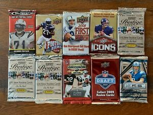 2007 2008 2009 Topps Upper Deck Panini Playoff & Donruss Sealed Pack LOT (10)