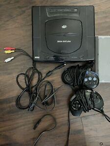 SEGA Saturn MK-80001 Black Console, Puzzle Fighter II, Great Condition!
