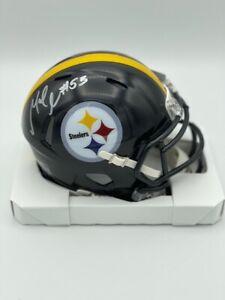 Maurkice Pouncey Pittsburgh Steelers Legend Signed Speed Mini Helmet COA Hol
