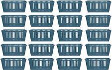 20x Whitefurze Plastic Nestable Handy Tidy Storage Basket Tray 25cm - Teal