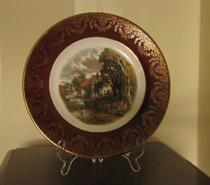 """10.5"""" DECORATIVE CABINET PLATE WITH RURAL SCENE"""