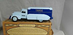 ERTL TRANE AIR 1939 DODGE AIRFLOW DELIVERY TRUCK COIN BANK Die Cast 20222p TRANE