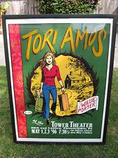 Original 90's Tori Amos Silkscreen Rockin' Concert Poster Signed Numbered 157/50