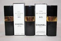 Lot of 3 Chanel No.5 Eau De Toilette Spray 1.7 Fl Oz Empty Refillable Bottles