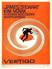 ADVERTISING THEATRE MOVIE FILM VERTIGO HITCHCOCK NOVAK USA POSTER BB4674A