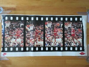 "Rare Promotional Nike MICHAEL JORDAN No. 23 CHICAGO BULLS ""FILM-STRIP"" Poster"