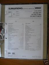 Service MANUAL GRUNDIG VS 940 Video Recorder, ORIGINALE