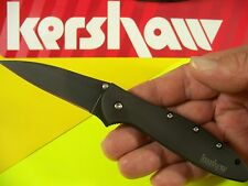 "Kershaw ""Usa"" - Black Leek Assisted Speedsafe Knife w/ Safety Lock Ks 1660Ckt"
