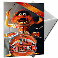 ANIMAL, MUPPETS - PERSONALISED  Birthday Card Large A5