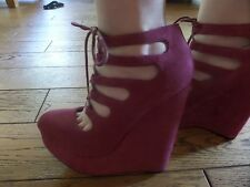 Ladies Lotus Suede Platform/Wedge Shoes Prom/party Size 6 'NEW'
