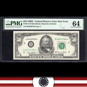 1969-C $50 New York FRN Federal Reserve Note PMG 64 Fr 2117-B  B26240784A