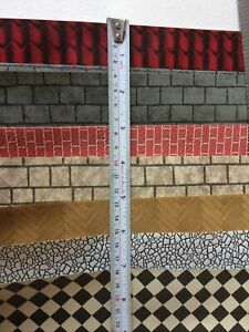 Bundle Dolls House Wallpaper Brick, Stone, Roof, Tiles, Paving Modelling Paper