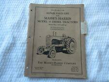 Massey Harris 33 diesel tractor parts catalog book list manual