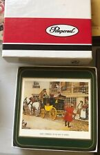New listing New Pimpernel Coasters Made in England Dickensian Scenes Vintage Set of 6 w/ Box