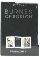 1 Count Burnes Of Boston 4 X 6 Inch Attached 3 Window Silver Picture Frame