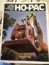 1985 Allied Ho-Pac Vintage catalog Brochure Construction Book Manual