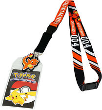 Pokemon Go Charmander 004 Exclusive Lanyard ID Badge Holder & Rubber Charm New
