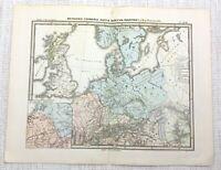 1865 Antik Map Of Germania Britannien Noricum Raetia Alte Römische Reich Latin