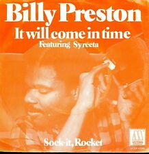7inch BILLY PRESTON it will come in time HOLLAND EX +PS 1979