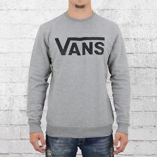 Vans Männer Pullover Classic Crew grau meliert Herren Sweater Sweatshirt Male