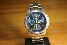 Seiko stainless/gold chronograph bracelet watch, 7T92-0BF0, tachymeter, Lot148