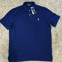 Polo Ralph Lauren Men's SZ M  Pony Classic Fit Polo Shirt In Blue/gold