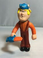 "Vintage Kenner ""Trapper Tom"" Figurine 5"" Blonde Squirt Toy #CPG82HK Chainsaw"