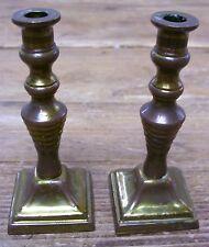 Metal Doll Dollhouse House 2 Candle Sticks Holder Peerage England Vintage
