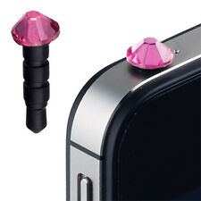 Diamant pink f Apple iPhone 4S iPhone 4 Staub Schutz Kappe Headset Buchse