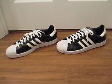 Used Worn Size 13 Adidas Superstar Shoes Metallic Black & White