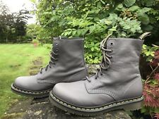 BNIB DR MARTENS AIR WAIR PASCAL LEAD VIRGINIA SOFT SUPPLE LEATHER BOOTS SIZE 8