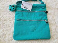 Kipling Keiko Crossbody Messenger Shoulder Bag Cool Turquoise Monkey Keyfob NWT