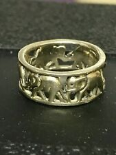 Sterling silver elephant ring. Size M