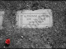 Al Capone Grave Marker Mafia Art Print Poster Hp3943
