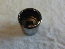 """New listing Snap On Sw321 1/2"""" Drive 12-Point Sae 1"""" Shallow Socket Usa New tools"""