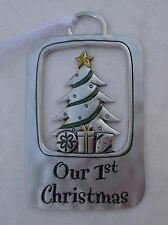 bbD Our first 1st Christmas newlywed TIDINGS OF THE SEASON CHRISTMAS ORNAMENT