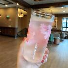 New Starbucks Pink Sakura Cold Color-Change Glass Cup Single Mug Limited Edition