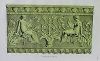 Ancient Rome Terracotta Tile-PlateXIII-Orig Folio Lithograph Campana Relief 1851