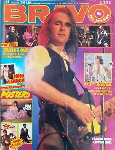 BRAVO 16/1981,KISS-Starschnitt/J. Lennon/K. Wilde/Status Quo/Teens/Police